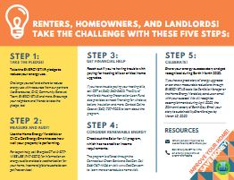 This is an image of the Energy Equity Challenge brochure for smaller residential properties