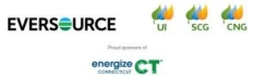 Image of the logos of Energize CT, which is supported by Eversource, UI, SCG, and CNG